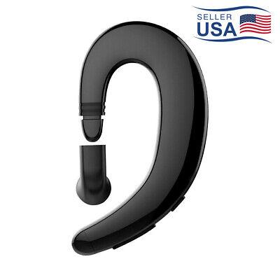 1Pc Bone Conduction Stereo Sound Ear Hook Mic Bluetooth 5.0 Wireless Earphone
