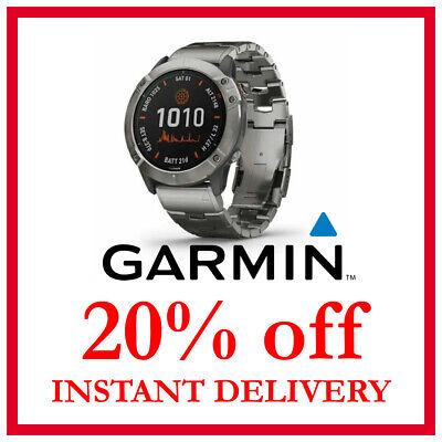 Garmin Fenix 6X Pro Solar Watch 20% DISCOUNT CODE (READ DESCRIPTION)