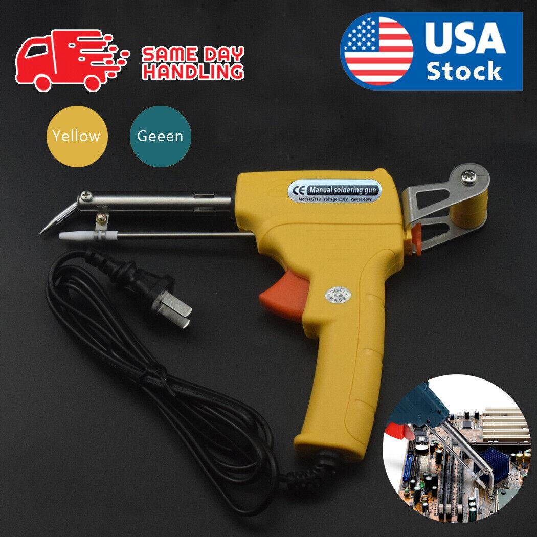 USA 110V 60W Auto Welding Electric Soldering Iron Temperature Gun Solder Tool Home & Garden