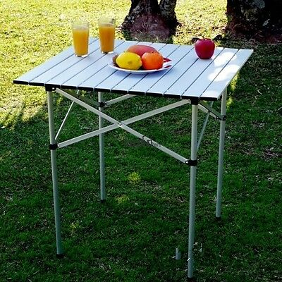 Camping Outdoor Garden Picnic Portable Folding Roll Up Square Table Hot~