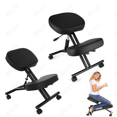 Great Black Ergonomic Kneeling Chair Adjustable Stool For Home And Office