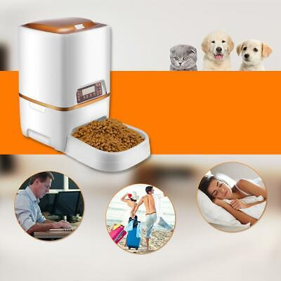 6L Automatic Pet Food Dispenser Cat Dog Feeder Timer Programmable & Voice record ()