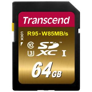 Transcend-de-64GB-SDXC-UHS-I-U3-clase-10-tarjeta-de-memoria