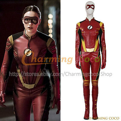 The Flash Season 3 Jesse Quick Cosplay Costume Women Halloween Uniform Adult New](Cheap Women Costumes Halloween)