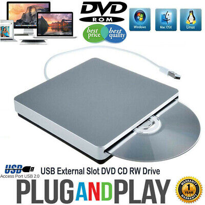 External DVD Drive USB CD Player RW Burner Laptop PC iMAC MacBook pr CL