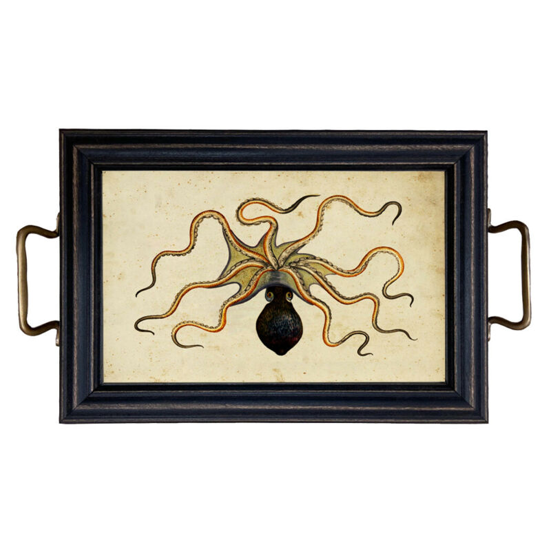 Octopus Tray with Brass Handles