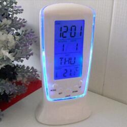Digital LED Snooze Electronic Alarm Clock with LED Backlight Light Control White