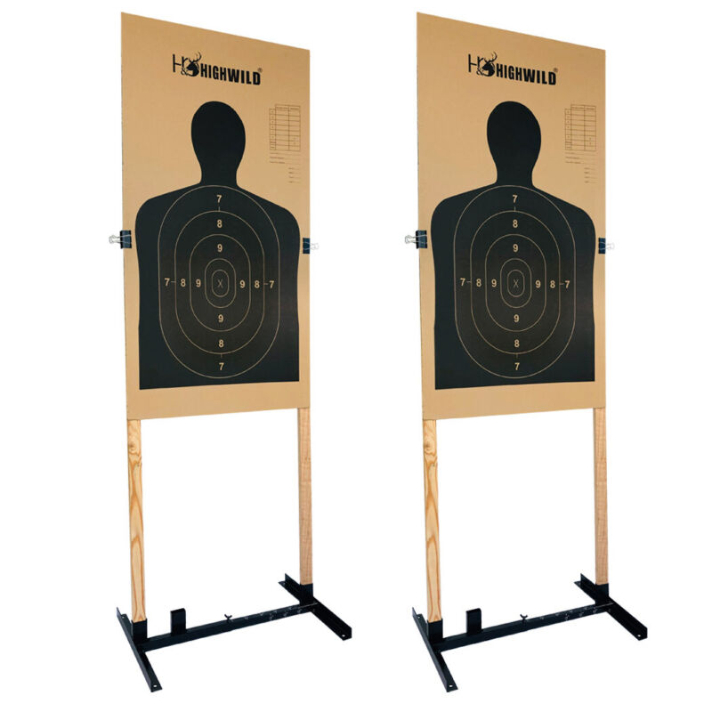 Adjustable Target Stand for Paper Silhouette Shooting Targets H Shape -2 Pack