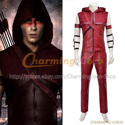 Green Arrow Cosplay Roy Harper Speedy Red Arrow Costume Halloween Outfits Cool](Red Arrow Halloween Costume)