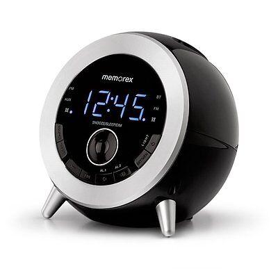 Brand New Memorex Bluetooth Clock Radio USB Charging MC3533 Black GloTime FM