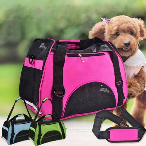 Nylon & Mesh Pet Carrier Soft Sided Cat Dog Comfort Travel T