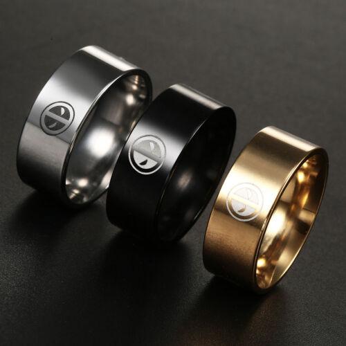 Deadpool Stainless Steel Ring Women Men Wedding Engagement Band Rings Size 6 13