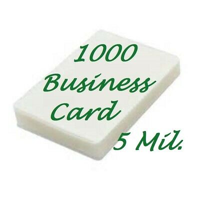 1000 Business Card 5 Mil Laminating Pouches Laminator Sheets 2-14 X 3-34