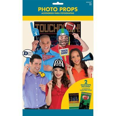 FOOTBALL Photo Booth Props Kit Party Game Day Decorations Backdrop Scene Setter - Football Photo Props