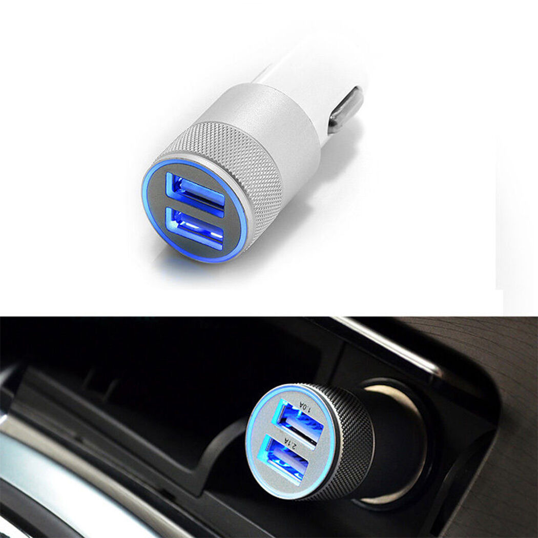 Dual USB 3.1A Car Charger 2 Port Adapter For Smart Mobile Cell Phone Universal Z