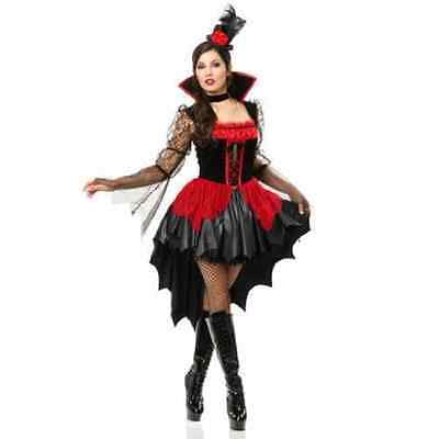 Vampire Dress Up (Vampiress Ball Gothic Vampire Fancy Dress Up Halloween Deluxe Adult)