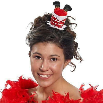 Santa in Chimney Hair Clip Chritmas Holiday Fancy Dress Up Costume Accessory