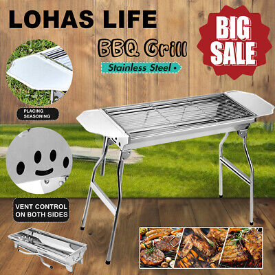 BBQ Grill Portable Folding Charcoal Barbecue Garden Picnic Steel Outdoor Patio