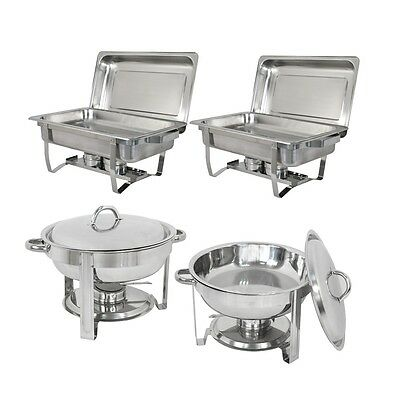 2 Pack 8 Quart Chafing Dish Stainless Steel 5 Quart Tray Buffet Catering Chafers