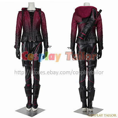 Green Arrow Season 4 Queen Speedy Thea Cosplay Costume Uniform Halloween Female](4 Season Halloween Costumes)