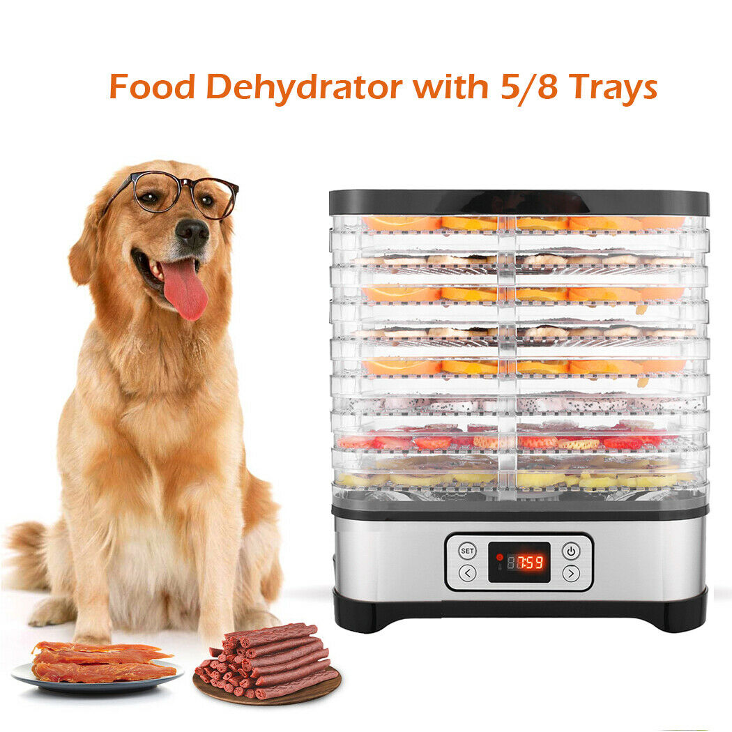 Food Dehydrator Machine w/ 5/8 Trays Digital Timer and Temp