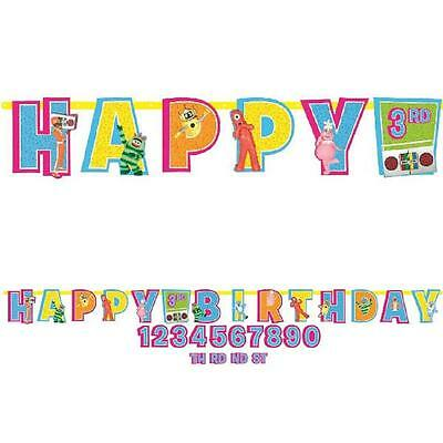 Yo Gabba Gabba! Nick Jr Cartoon Birthday Party Decoration Letter Banner Kit