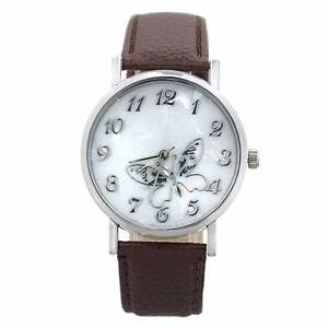 Butterfly Embossed Silver Women Marbling Quartz Wrist Watch - NEW Gateshead Lake Macquarie Area Preview