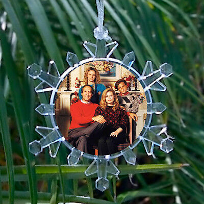 Christmas Vacation Movie Griswold Family Pic Snowflake Lit Holiday Tree Ornament ()