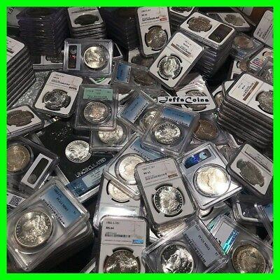 ✯Estate Lot US Silver Dollars ✯ PCGS NGC Morgan Peace UNC ✯ O, S, P, CC Coins✯