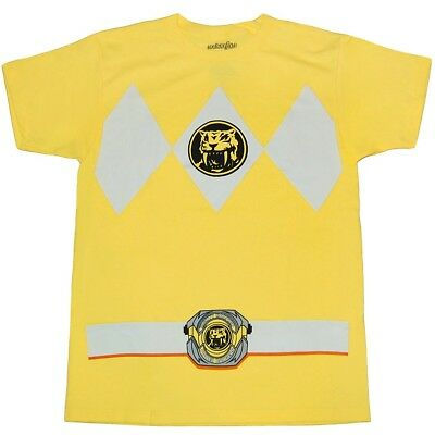 Mighty Morphin Power Rangers Yellow Ranger Mens T-Shirt (Power Rangers Yellow Ranger Shirt)
