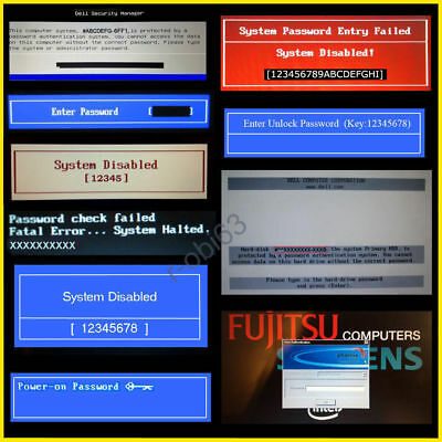 Dell  Hp  Acer  Sony  Fujitsu  Bios Password Unlock Service  1D3b 1F66 6Ff1