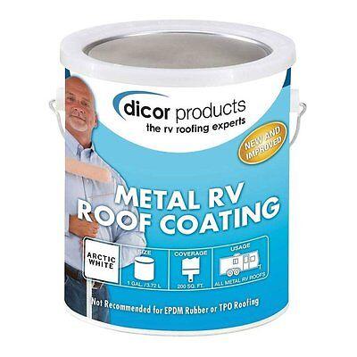 RV Metal Roof Coating Leak Sealant Fiberglass Acrylic Resin Elastomeric 1 Gallon