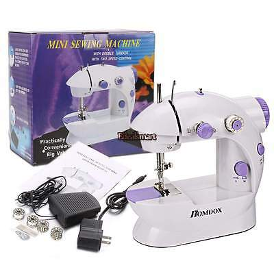 2 Speed Mini Electric Portable Desktop Sewing Machine Handheld Household Sewing