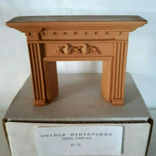 UNIQUE Miniatures Dollhouse Federal Fireplace #F-2 (NOS)