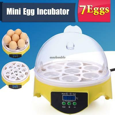 Automatic Clear 7 Eggs Capacity Digital Incubator Chicken Duck Egg Poultry Hatch