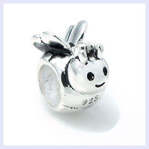 925-STR-Silver-Smile-Honey-Bumble-Queen-Bee-Bead-for-European-Charm-Bracelet