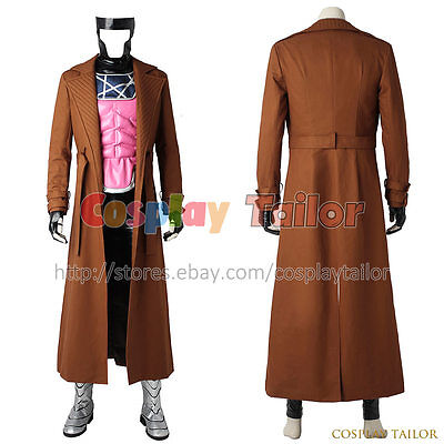 Gambit Costume Halloween (X Men Gambit Remy Etienne LeBeau Cosplay Costume Halloween Party Uniform)