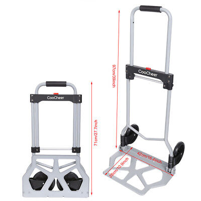 Aluminium Cart Folding Dolly Push Truck Hand Collapsible Hand Truck