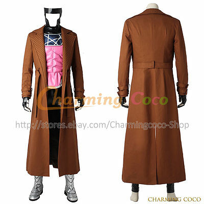 Gambit Costume Halloween (X Men Gambit Remy Etienne LeBeau Cosplay Costume Men Halloween Uniform Outfit)