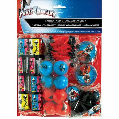 Power Ranger 48 piece Party Favor Mega Value Pack Party Supply Birthday Gift  (Power Ranger Supplies)