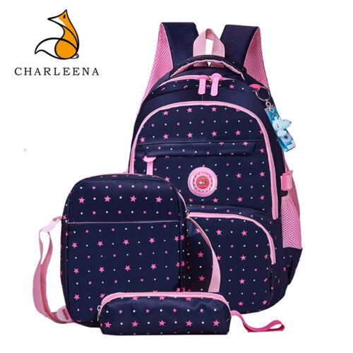 CHARLEENA Girls Boy School Bags Lightweight Backpacks Kids Bookbags