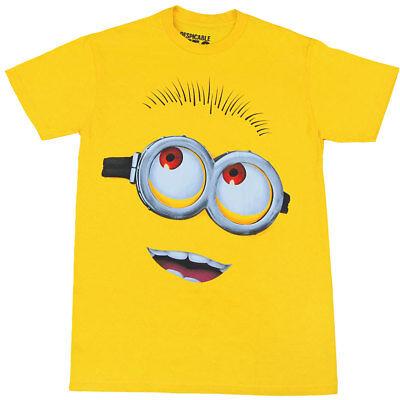 Despicable Me Minion Face Adult T-Shirt  - Minion Adult T Shirt