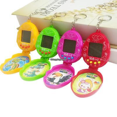 Pocket Watch Shape Electronic Digital Pet Game With Keychain Kids Toy EH7E