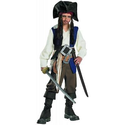 Captain Jack Sparrow Pirates Caribbean Fancy Dress Up Halloween Child Costume - Captain Jack Sparrow Costume Kids