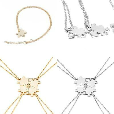 4PCS BFF Necklace Puzzle Best Friend Necklaces Pendant Friendship Jewelry Charm