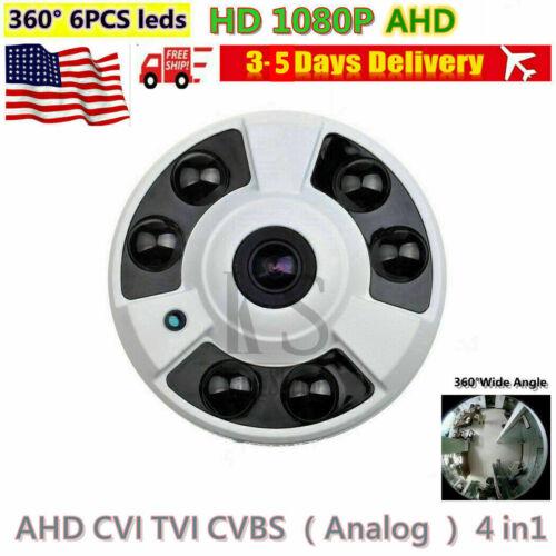 Full HD 1080P 2.0MP AHD Camera 360° Wide Angle lens 6PCS IR Dome Security Camera