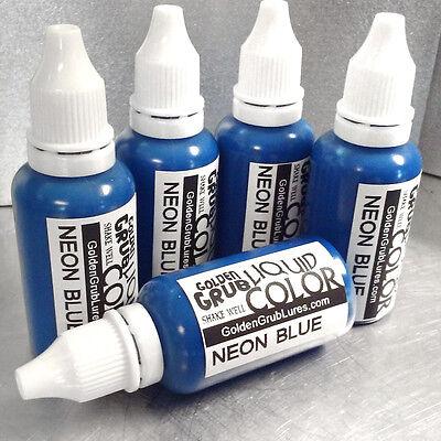Dye Plastic (NEW 1 OZ. NEON BLUE Liquid Color Dye Fishing Soft Plastic Lure Making)