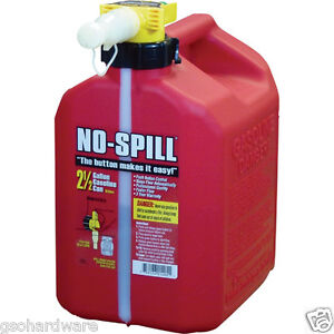 No-Spill 1405 2-1/2-Gallon Poly Gas Can (CARB Compliant) RED NEW!!