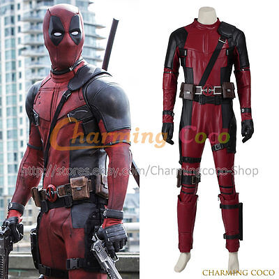 Deadpool X-men Cosplay Costume Halloween Adult Uniform Cool Great Jumpsuit New