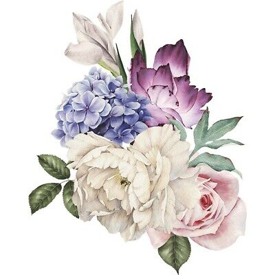 Home Decoration - Removable Peony Flower DIY PVC Wall Sticker Home Decal Mural Room Decor DIY Gift